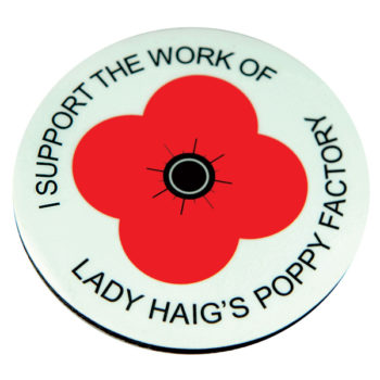 Lady Haig Poppy Factory Coaster