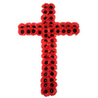 Poppy Wreath Cross WS2 - 33""