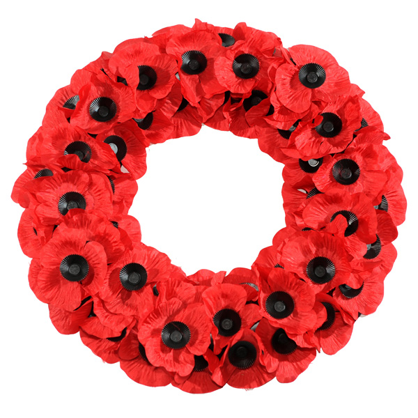 Poppy Wreath 17""
