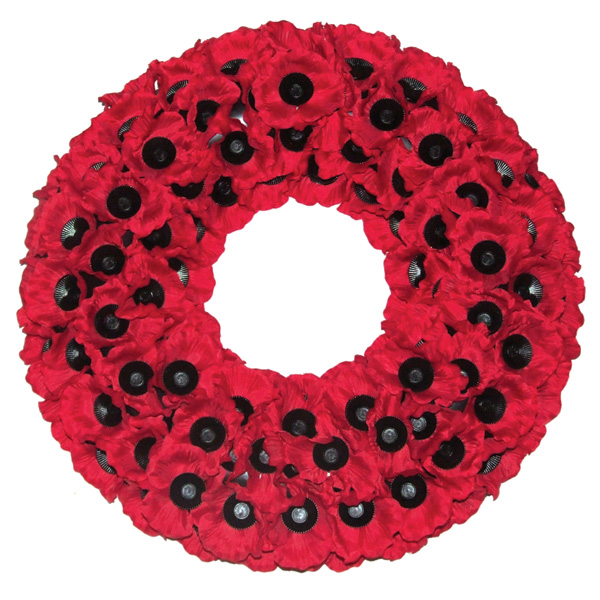 Poppy Wreath W6