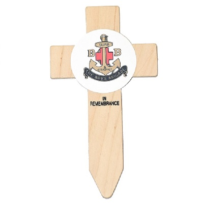 Planted Badged Cross available to be planted in Edinburgh Garden of Remembrance