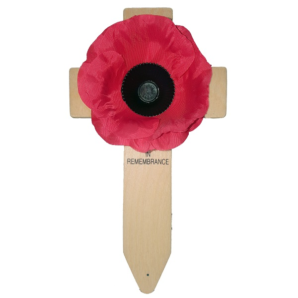 Silk Poppy Cross Lady Haig Poppy Factory