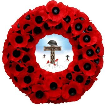 Armistice Commemorative Wreath specially designed by our wreath making department