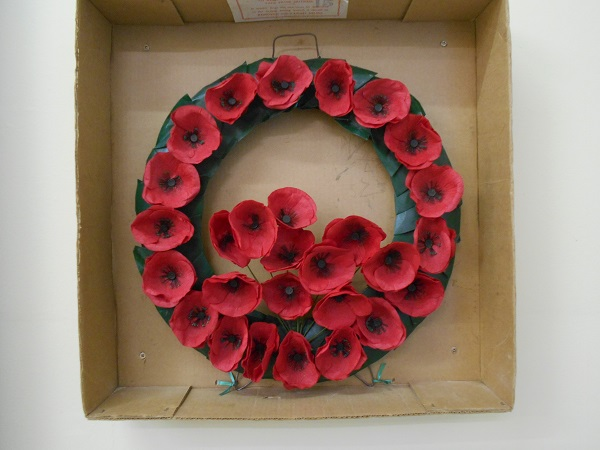 Vintage 1930s Poppy Wreath made in Lady Haig's Poppy Factory