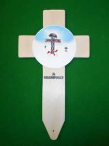 Armistice Commemorative Badged Cross made exclusively in Lady Haig's Poppy Factory Edinburgh to mark the end of WW1