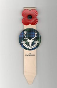 bespoke badged tartan humanist remembrance symbol available from lady haig's poppy factory