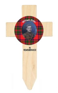 tartan badged cross designed by lady haig's poppy factory