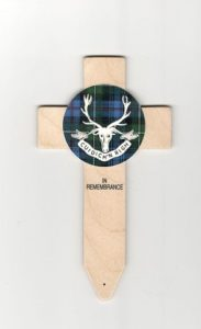 bespoke tartan badged crosses available from lady haigs poppy factory