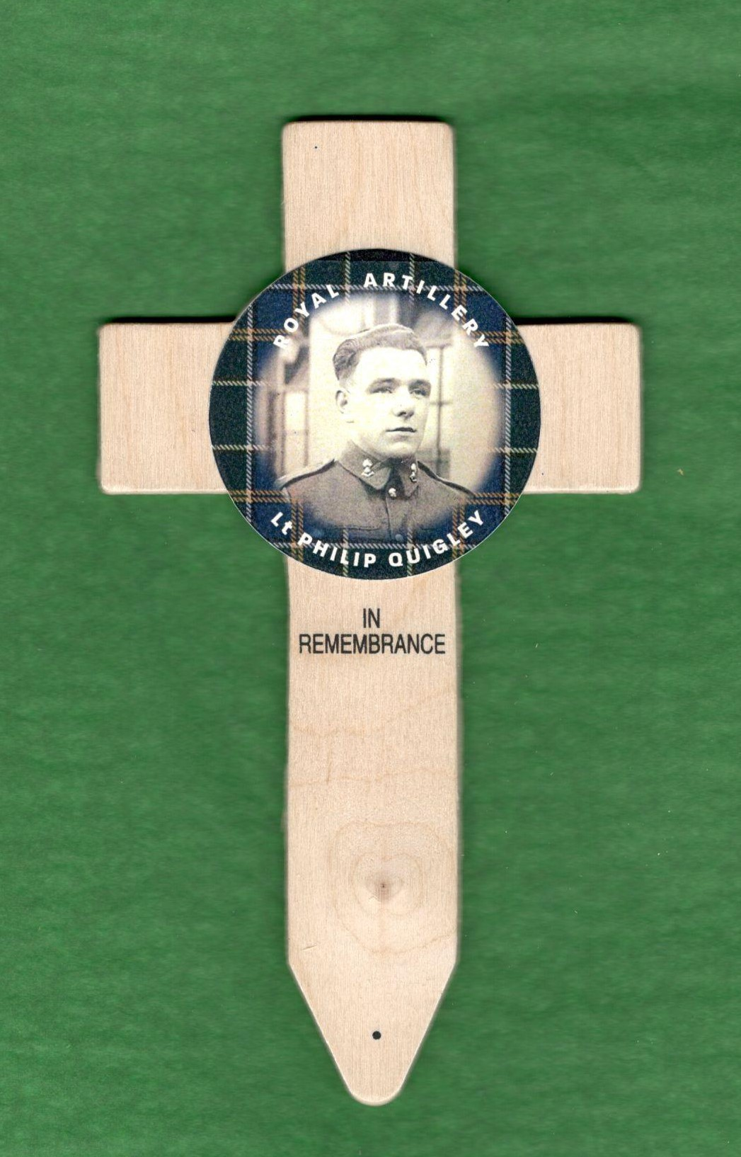 tartan badged cross designed by Lady Haig's Poppy Factory and available to order now