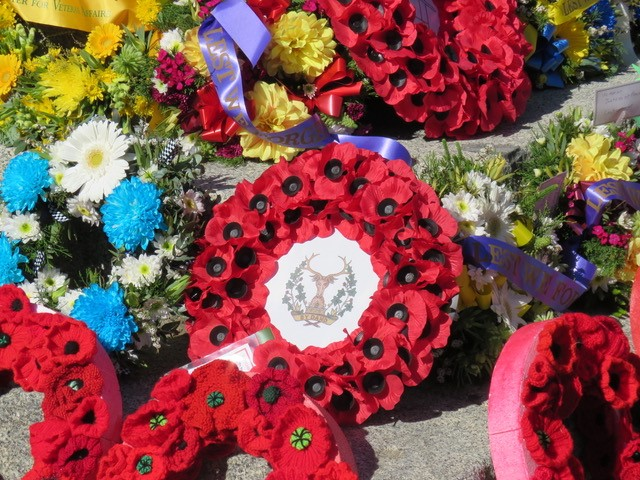 Gordon Highlanders Poppy Wreath Made By Veterans At Lady Haig's Poppy Factory, Edinburgh