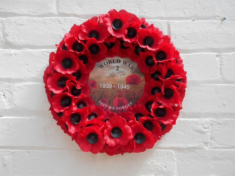 Exclusive World War 2 Commemorative Wreath Available From Lady Haig's Poppy Factory