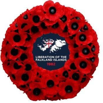 No. 2 Falklands Liberation Poppy Wreath
